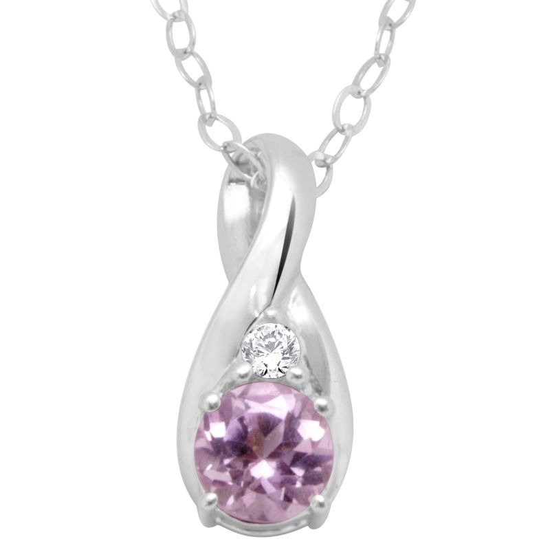 Buy Hoop Silver With Cz Diamond Purple Pendant For Womens online