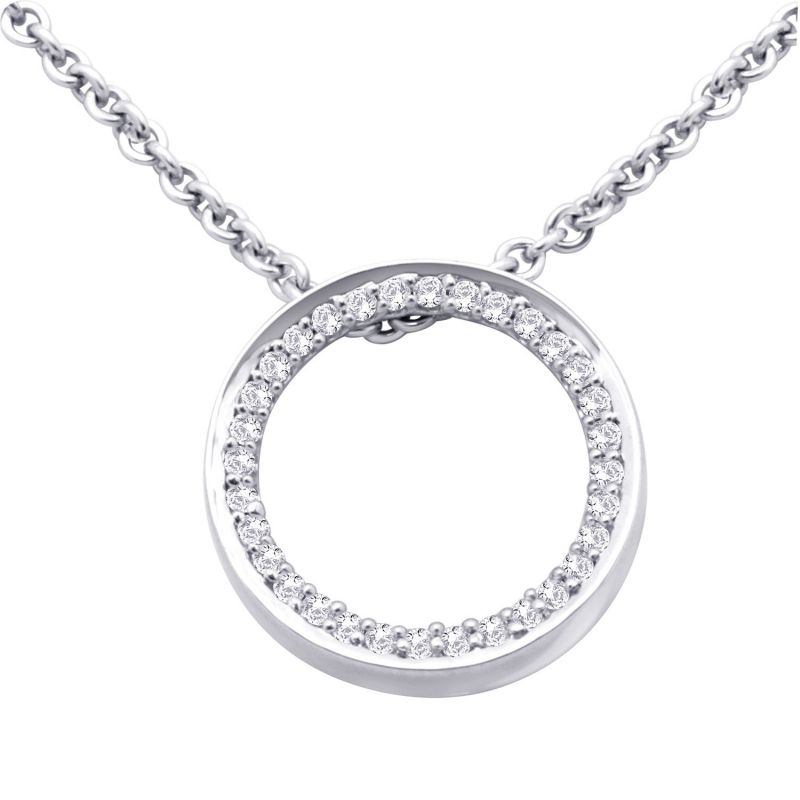 Buy Hoop Silver With Cz Diamond Silver Pendant For Womens online