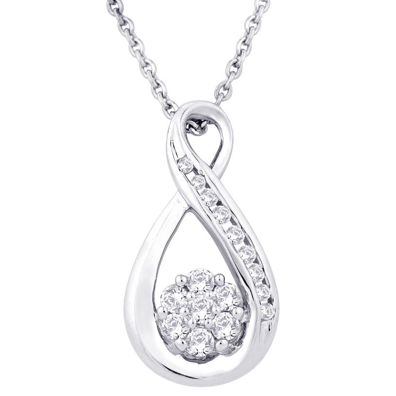 Buy Hoop Silver With Cz Diamond Blue Pendant For Womens online