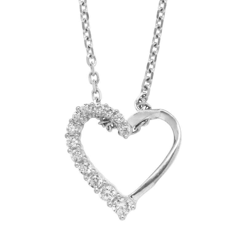 Buy Hoop Silver Cz Diamond Silver Pendant For Women Pf4874 online