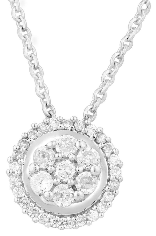 Buy Hoop Silver Cz Diamond Silver Pendant For Women Pf4964 online