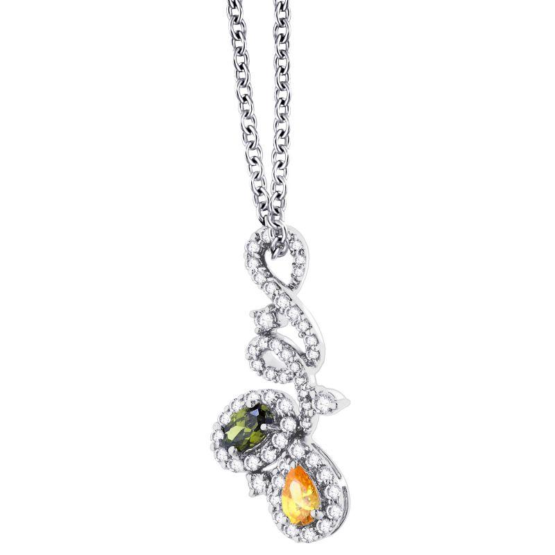 Buy Hoop Silver Cz Diamond Silver Pendant For Women Pf8975 online