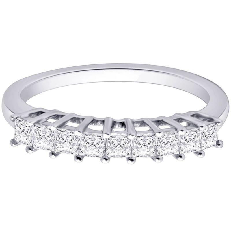 Buy Hoop Silver With Cz Diamond Silver Ring For Womens Rf4087 online