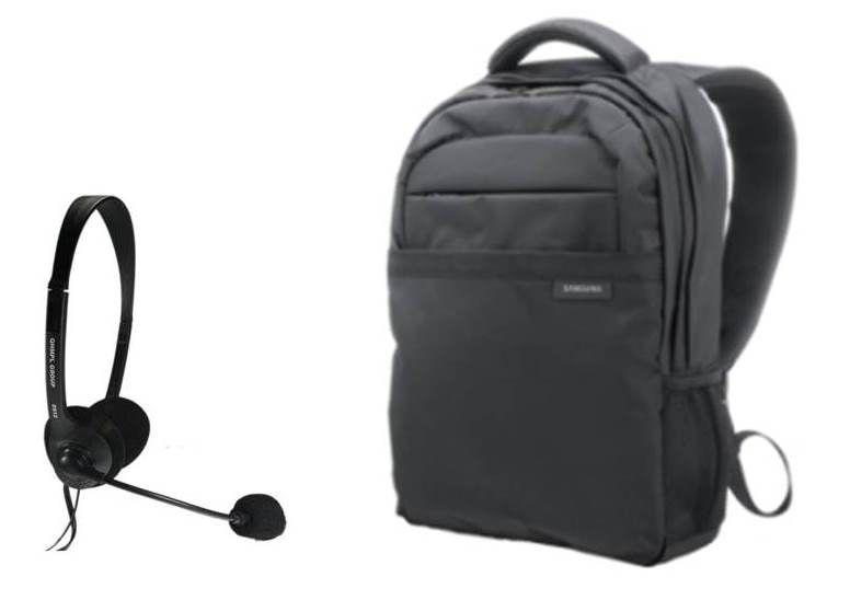 Buy 15.6 Samsung Bagpack At Rs 548 plus Headphone With Mic
