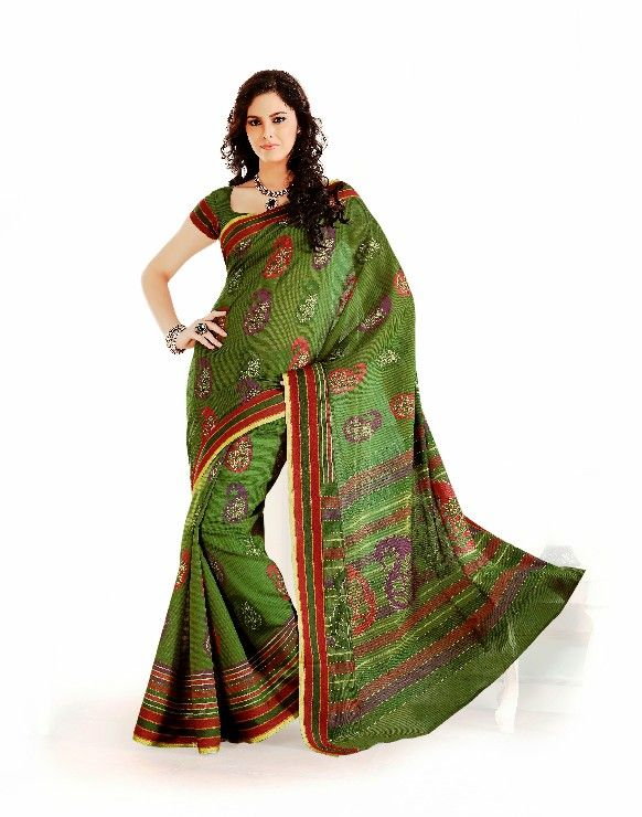 Buy De Marca Green Cotton Saree - 6437 Price and Features.Shop De Marca Green Cotton Saree - 6437 Online.