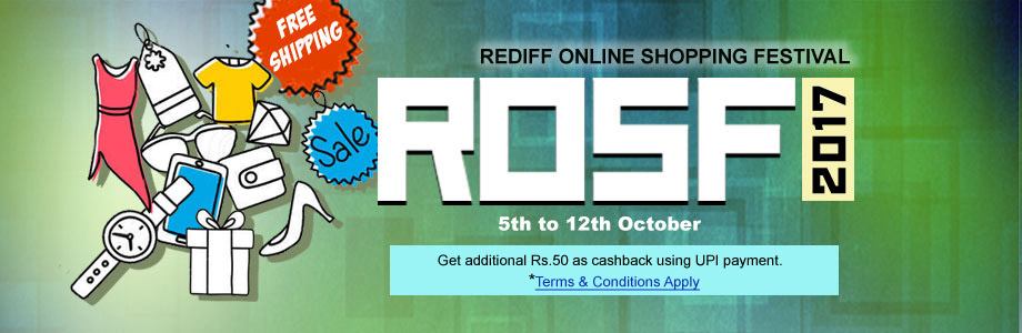 22b8dea6e54 Rediff Online Shopping Festival 2017