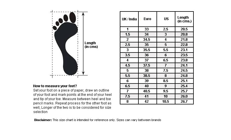 puma toddler shoes size chart