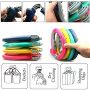 5pcs Trip Grip Handle Carry Multiple Bags Without Hand Strain Locking Holde