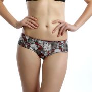 Cloe Set Of 2- Printed Stretch Briefs In Black And Red PN0136Q59