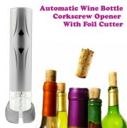 Bottle Corkscrew Opener With Foil Cutter