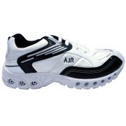 Camro Sports Cool Air White And Black Running Shoes