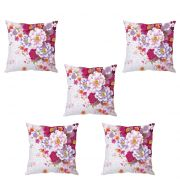 Stybuzz Pretty Floral Cushion Cover- Set Of 5