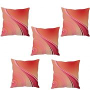 Stybuzz Pink Abstract  Cushion Cover- Set Of 5