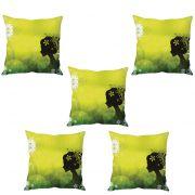 Stybuzz Elegant Woman Art Cushion Cover- Set Of 5