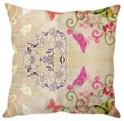 Stybuzz Floral Abstract Art Beige Cushion Cover