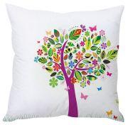 Stybuzz Tree Abstract Art White Cushion Cover