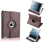 Pu Leather Full 360 Degree Rotating Flip Book Case Cover Stand For Ipad 4 Ipad 3 Ipad 2 (brown)