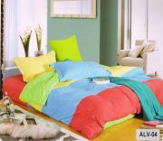 Welhouse India Cotton Elegant Ultra-Blue Color Double Bedsheet With Two Pillow Covers