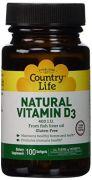 Country Life, Natural Vitamin D3, 400 I.U., Softgels, 100-Count