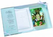 Baby Bible With White Cotton Cover