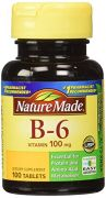 Nature Made Vitamin B-6 100 Mg, Tablets, 100-Count (Pack Of 2)