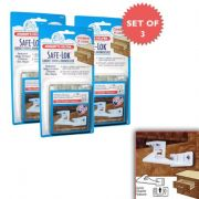 Mommys Helper Safe-Lok For Drawers And Cabinets Set Of 3 Packs Of 6!