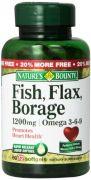 "Nature""s Bounty Omega 3-6-9 Fish Flax Borage 1200mg Softgel, 72 Count Bottle"