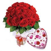 Combo Of Red Roses With Cake