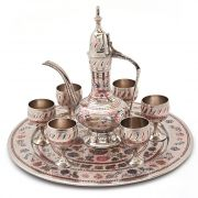 Vivan Creation White Metal Antique Royal Wine Set Handicraft -155