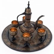 Vivan Creation Antique Royal Wine Set Black Metal Handicraft -182