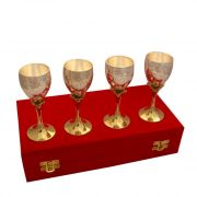 Vivan Creation Wine Glass Set Of 4 Made In German Silver (product Code - Sm-hcf548)