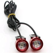 Spidy Moto LED Lamp Strobe Light With Flasher Handle Light Red Universal For Motorcycle