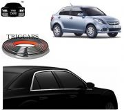 Trigcars Maruti Suzuki Swift Dzire 2016 Car Side Window Chrome Beading Moulding Roll Car Bluetooth