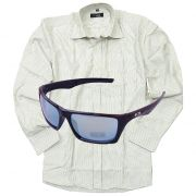 Formal Full Sleeves Stripe Shirt With Sporty Shades Sunglasses New_rel_50081