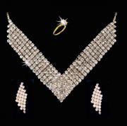 Designer Wear Party Wear American Diamond Set