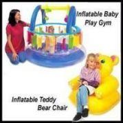 Inflatable Baby Play Gym & Teddy Bear Cum Sofa