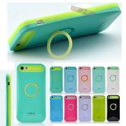Apple IPhone 5S I-Glow Ring Stand Case With Free Screen Guard