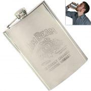 08 Oz STAINLESS STEEL Drinks Hip Pocket Wine Flask Screw Cap - 73