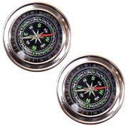 2 Pieces Jumbo Military Magnetic Compass Hiking Camping - 03