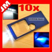 3x 10x Magnifier Magnifying Glass Jewelry W LED Uv
