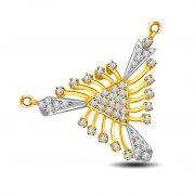 Surat Diamond Sparkle Of Life Two Tone Diamond & Gold Pendant DN223