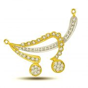 Surat Diamond Love Cradle 0.35ct Diamond Necklace Pendant DN415
