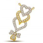 Surat Diamond Hearts On Fire Two Tone Diamond Pendant DN418