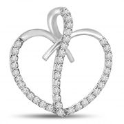 "Surat Diamond You""re Captivating White Gold 14kt Diamond Heart Pendant P1069"