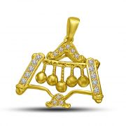 Surat Diamond Gold Bells With Diamond Pillars 18kt Pendant For Her P880