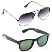 Gradient Aviators Wayfarer Sunglasses Combo