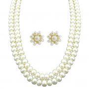 Jpearls Two Line Pearl Necklace