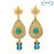 Vendee Fashion Sky Blue Alloy Earring 3619I