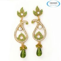 Vendee Fashion Green Alloy Earring 3620F