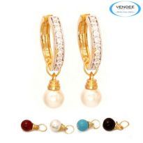 Vendee Fashion Multicolour Brass Earring 6816